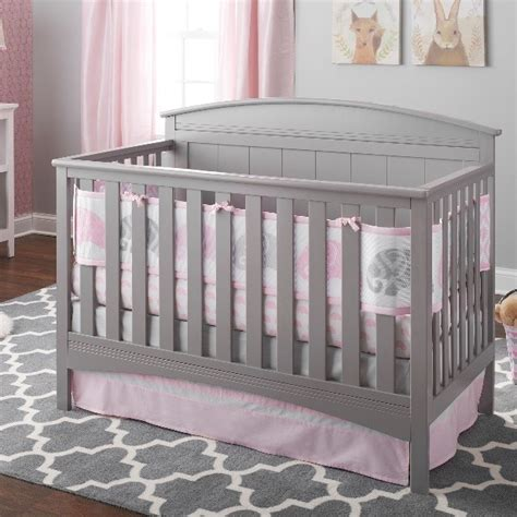 Breathablebaby 174 3pc Ultra Luxe Reversible Crib Bedding Set Elephant Nursery Bedding Sets