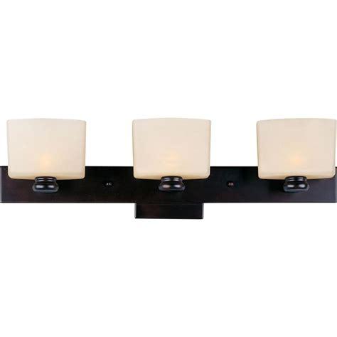 Low Profile Vanity Light Maxim Lighting Essence 3 Light Rubbed Bronze Bath Vanity Light 9003dwoi The Home Depot