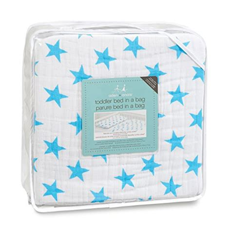 toddler bed pillow top aden anais classic toddler bed in a bag fluro blue