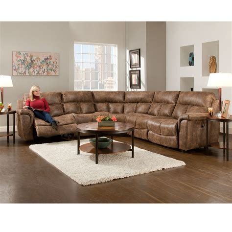 5 piece sectional sofa stallion faux leather collection