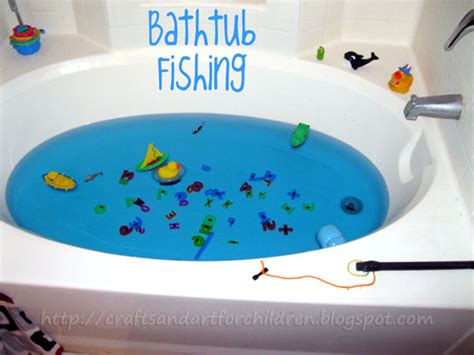 fish in bathtub bathtub fishing make your own fishing game artsy momma