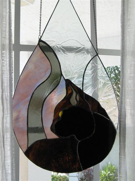 stained glass cat 1000 images about art cat stained glass on pinterest