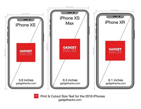 print these iphone xr xs xs max cutouts to see which size is right for you 171 ios iphone