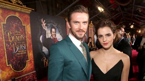 emma watson and dan stevens beauty and the beast premiere amid reports of gay lefou