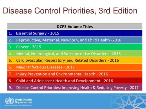 control and eradication disease control priorities in developing a package of high priority health interventions