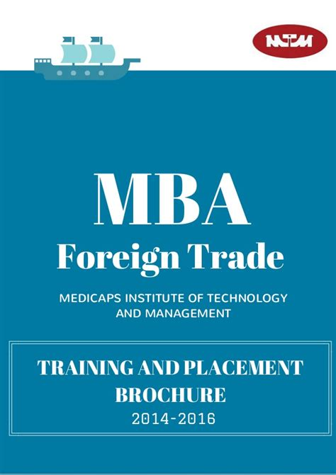 Mba In Import Export In India by Mba Foreign Trade And Placement Brochure