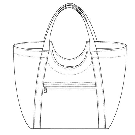 drawing bag pattern poolside tote pdf pattern noodlehead