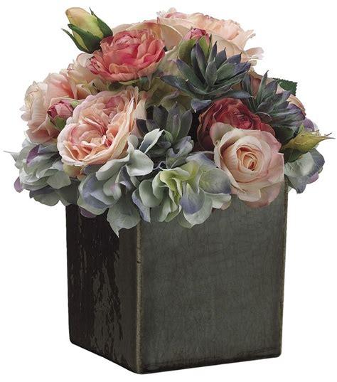 10 Ceramic Flower Pot by Bloom Room Luxe 10 Hydrangea Ranunculus In