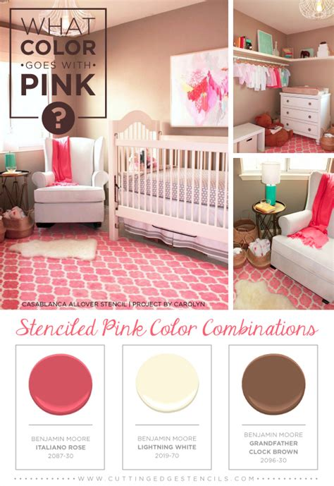 what goes with pink what color goes with pink stenciled pink color combinations stencil stories stencil stories