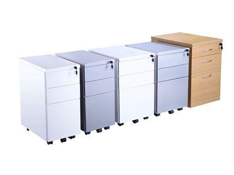 office furniture pedestal 3 drawer endurance metal pedestal in silver used office