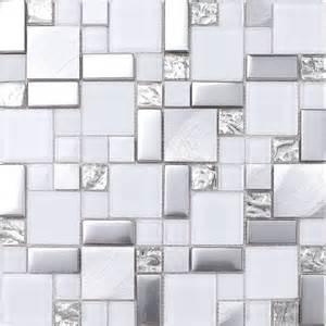 modern mosaic tile backsplash white gray metal glass mosaic kitchen backsplash tile 12