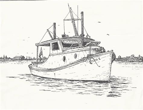 fishing boat sketch saving sylvia ii page 2 the hull truth boating and