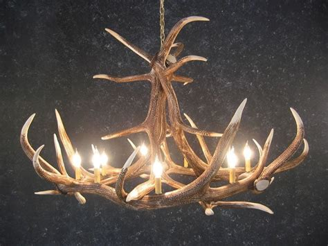 Elk Horn Chandeliers Cast Horn Designs Faux 6 Antler Elk Chandelier Rustic Lighting Fans
