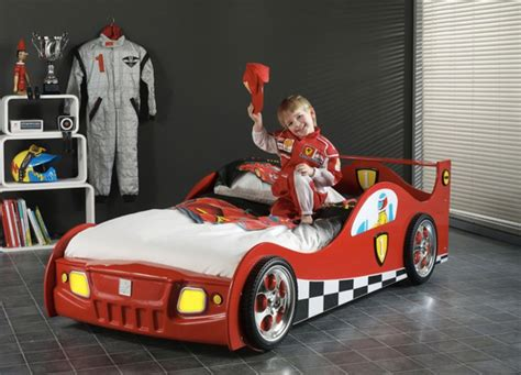 cars bedroom decor awesome car beds for kids wayfair racecar within red ferrari car bed for kids room