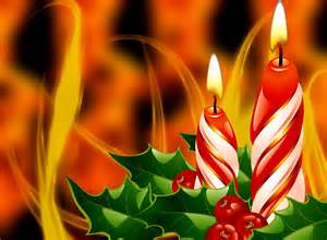 Christmas candles new year lovely berries