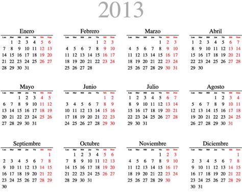 Calendario 2012 En Espaã Ol Calendario 2013 Espa 241 Ol Images