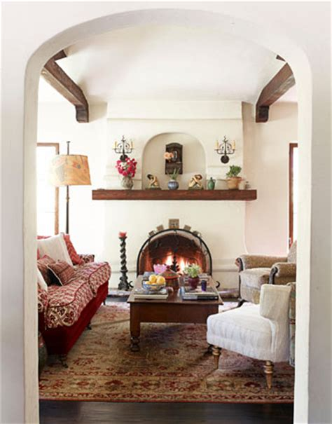 spanish style living room spanish style house makeover by kathryn ireland