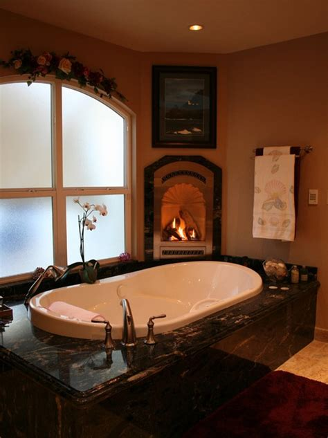fireplace in bathroom 51 spectacular bathrooms with fireplaces digsdigs