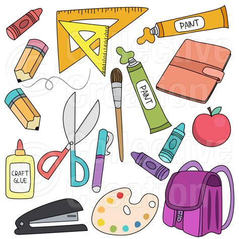 clipart school school supplies clipart collection