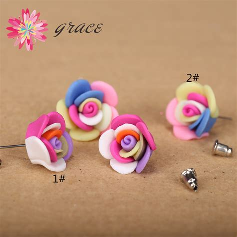 Handmade Polymer Clay Grizzly Small Fgbb 2pairs lots 18mnm3d handmade polymer clay fimo artistic small ceramic flowers earrings