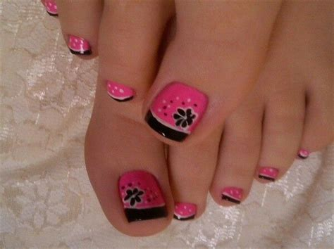 8 Pretty Manicure And Pedicure by Pretty Pedicure Pink With Black Tips And A Black