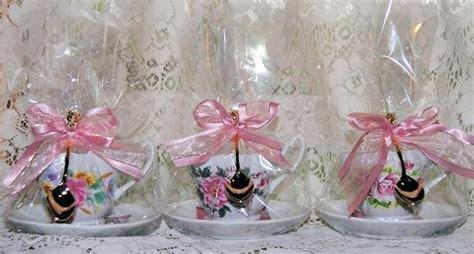 Set Floral Tea Cup Saucer Teaspoon tea favors wedding and baby shower favors miniature