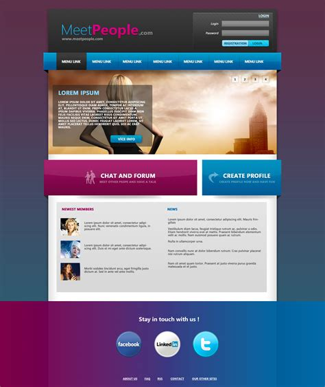 www cloudaccess net templates meetpeople web template psd by martz90 on deviantart