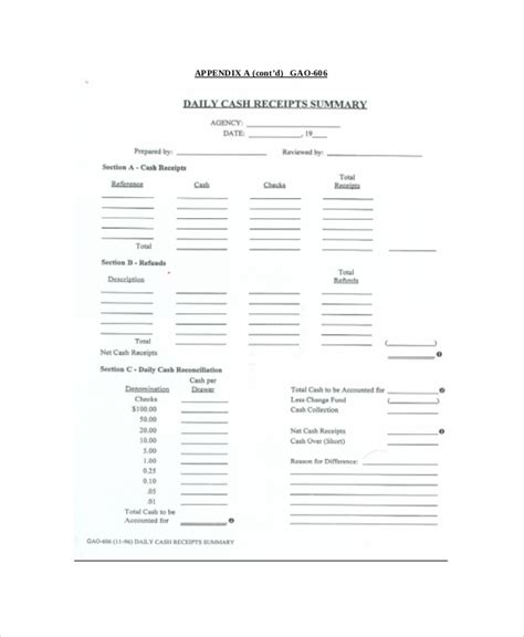 Daily Receipts Journal Template by Receipt Template To Use And Its Purposes