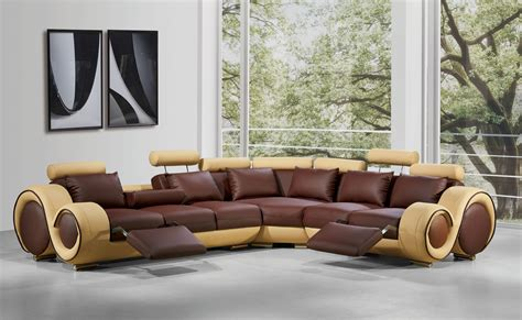 modern recliner sofa sectional modern leather sectional sofa with recliners