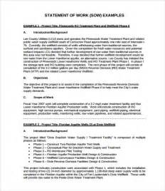 free statement of work template sle statement of work template 11 free documents
