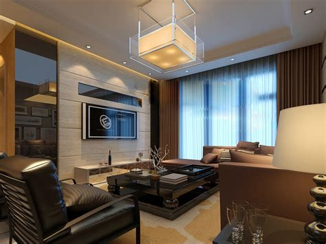 flat screen luxury angular living china interior design ideas