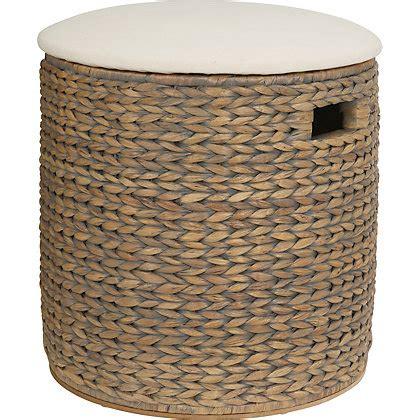 The Stool Storage by Grey Oval Storage Stool With Cushion