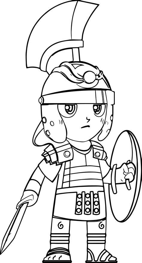 cartoon roman soldier pictures coloring page wecoloringpage