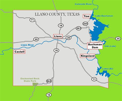 llano texas map texas hill country getaways how to find llano county