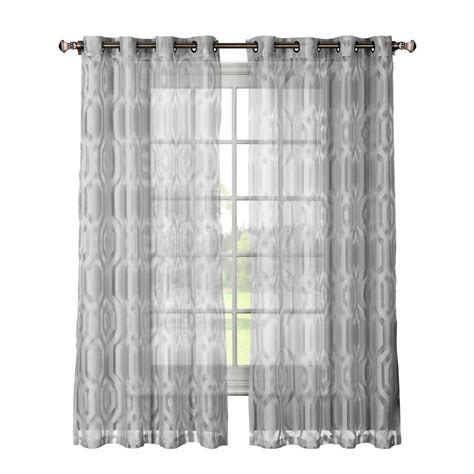 cotton sheer curtains window elements delta cotton blend burnout sheer extra