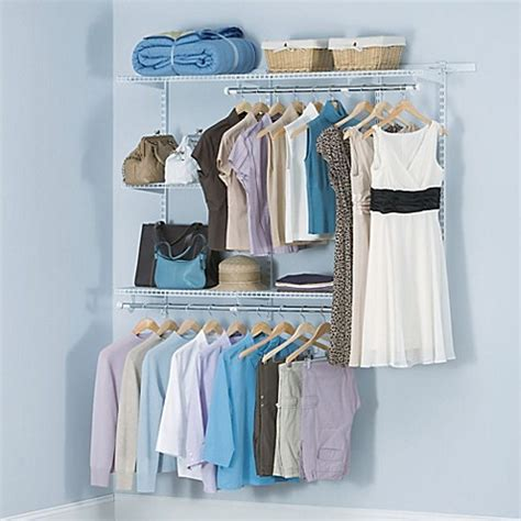 Bed Bath And Beyond Closet Organizer by Rubbermaid 174 3 Foot To 6 Foot Closet Organizer Kit In White