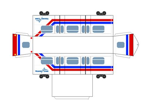 printable paper train template the buzzer blog 187 paper models of the skytrain mark i cars