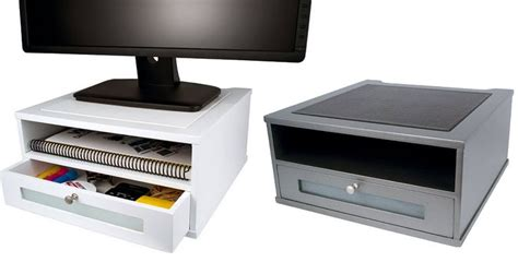 dual monitor riser with drawer 1000 images about wood monitor risers on