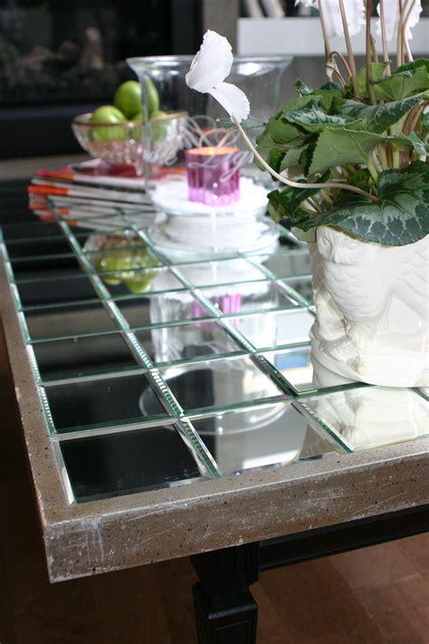 diy mirrored desk diy mirrored coffee table