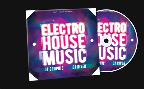 free electro house music electro house music cd cover free template by klarensm on