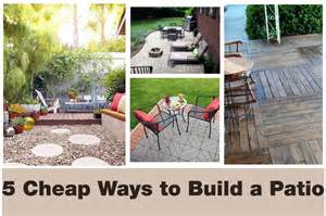 Backyard Patio Ideas Cheap 5 Cheap Ways To Transform Your Patio