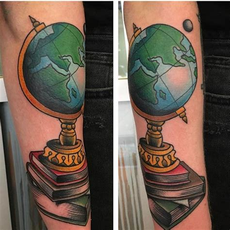 tattoo history in scotland globe on books by laurakennedytattoo this week