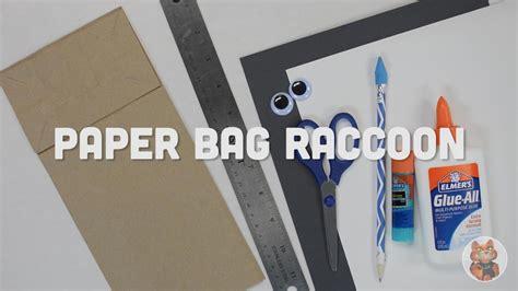 Paper Craft Supplies - paper bag raccoon puppet
