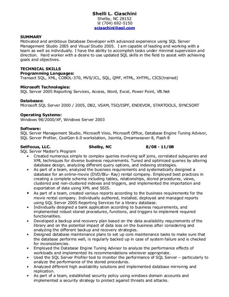 pl sql developer resume sample pl sql sample resumes resume