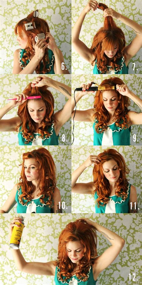 runglette curls step by step dolly inspired hair tutorial a beautiful mess