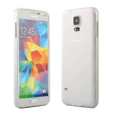 Ultra Thin Silicon Samsung Galaxy S5 I9600 Ungu for samsung galaxy s5 sv i9600 ultra slim matte transparent flex cover ebay