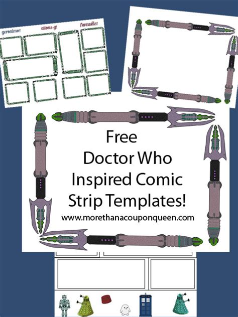 free fantastic doctor who comic strip template free