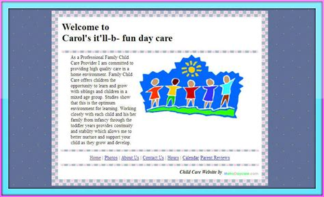 Daycare Advertising Exles child day care centers home daycare family child care
