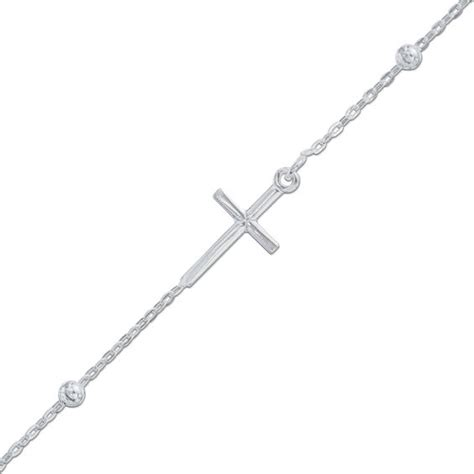 Cross Anklet cross anklet in sterling silver 10 quot view all jewelry
