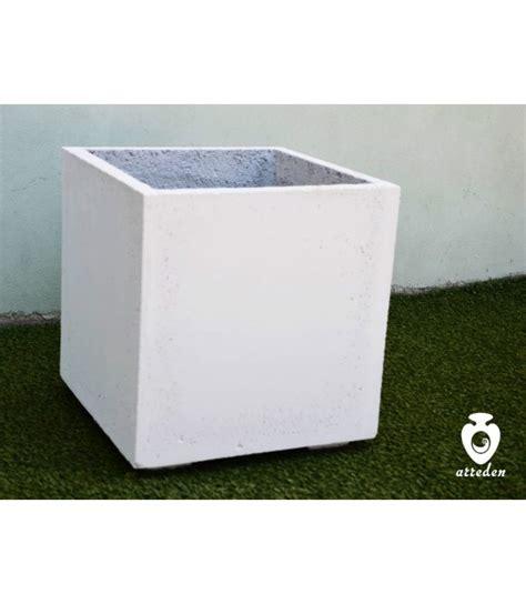vasi cemento bianco vaso quadrato in cemento bianco arreden